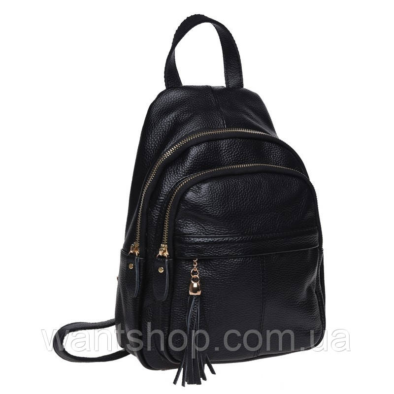 Жіночий шкіряний рюкзак Keizer K11032-black