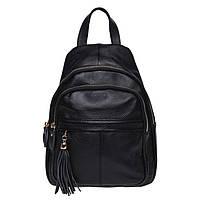 Жіночий шкіряний рюкзак Keizer K11032-black, фото 2