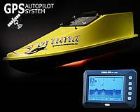 Кораблик для прикормки Фортуна (15000 mAh) с Эхолотом Toslon TF300 и GPS автопилотом (8+1)