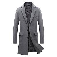 Чоловіче вовняне пальто. Модель DM-343, фото 5