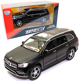 Машинка металлическая Mercedes-Benz «Автосвіт» Мерседес Джип черный, свет, звук, 16*7*6 см (AS-2862)