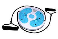 Балансировочный диск с эспандерами массажный для фитнеса