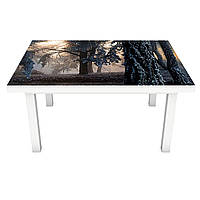 Наклейка виниловая на стол Zatarga Туманный Лес 3Д 600х1200 мм Z181337st SC, КОД: 2387449