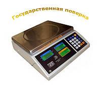 Торговые весы ВТЕ - Центровес - 6кг (15кг) (30кг) - Т1 - ДВ-Э