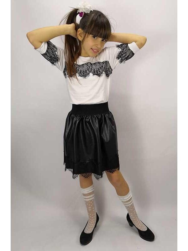 """Блуза підліткова з коротким рукавом-ліхтарик """"Resnichki"""""""