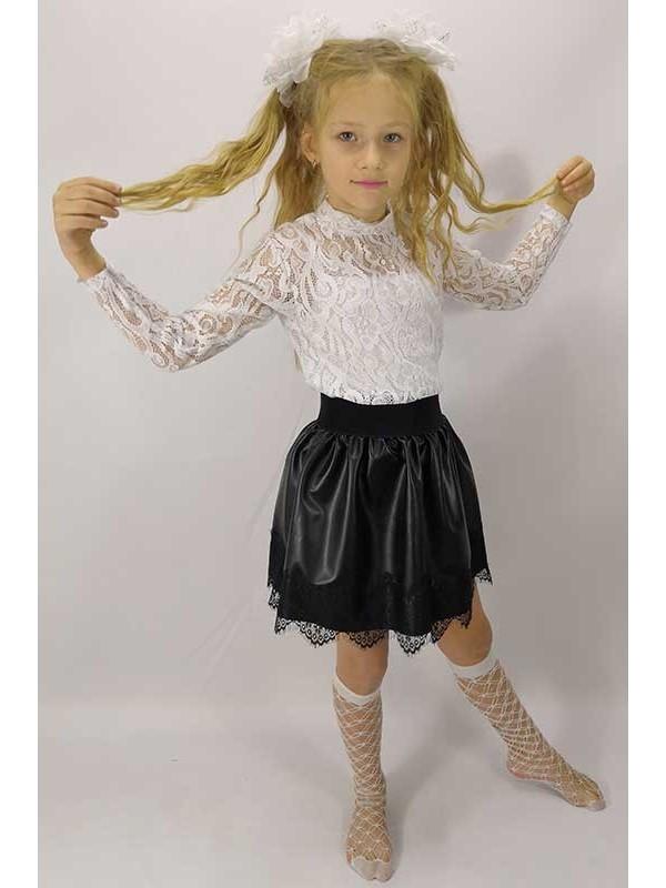 """Блуза підліткова для дівчинки з гіпюру """"Ажур"""""""
