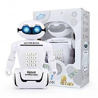 Сейф детский робот детская копилка банкомат с кодовым замком Robot Piggy BANK 3 в 1
