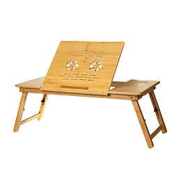 Столик трансформер для завтрака и компьютера 35х75 см 18802-005