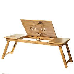Столик трансформер для завтрака и компьютера 35х75 см 18802-006