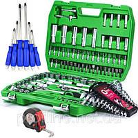 Набор инструментов 108 ед. ET-6108SP + набор ключей 12 ед. HT-1203+Набор ударных отверток 6 шт. +РУЛЕТКА 5м, фото 1