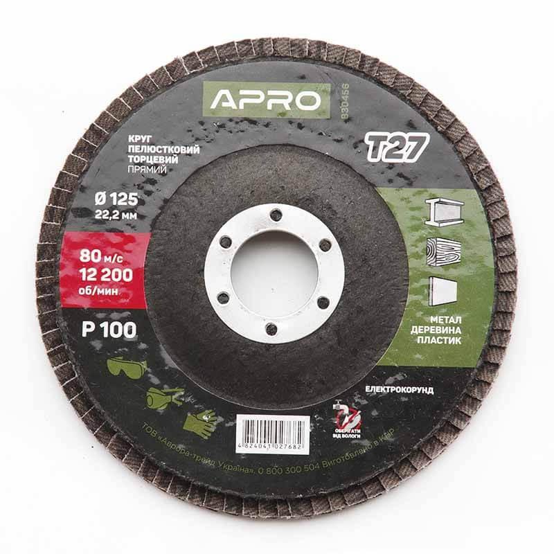 Круг лепестково-торцевой Р100 прямой 125 мм (Т27) (КЛТ) APRO