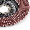 Круг лепестково-торцевой Р100 прямой 125 мм (Т27) (КЛТ) APRO, фото 3