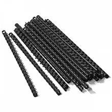 Пружини пластикові для палітурки Agent A4 25 шт 6 мм Чорні (8888821195134)