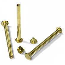Болти для брошурування металеві Agent 60 мм Золото 100 шт
