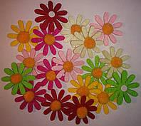 Цветы из фетра (5 см, 18 шт) арт.11-180