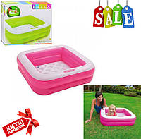 Детский квадратный надувной бассейн Intex 57100