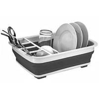 Складная сушка для посуды Bowl rack W87 настольная сушилка посуды с отсеками для столовых приборов