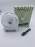 Вентилятор настольный Mini Fan XSFS-01 с аккумулятором 18650 Black