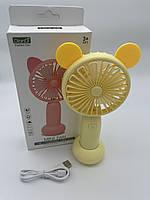 Портативный аккумуляторный мини вентилятор с ушками и RGB подсветкой Mini Fan