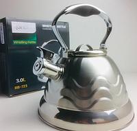 Чайник Rainberg RB-723 3л з нержавіючої сталі зі свистком