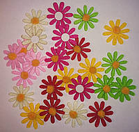 Цветы из фетра (3 см, 24 шт) арт.11-181