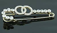 Брошь-булавка с кристалликами