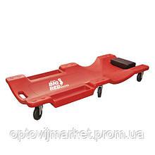 Лежак ремонтний на 6-ти колесах TORIN TRH6802-2