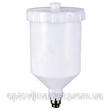Бачок для фарбопульта пластиковий (зовнішня різьба 3/8*1.337) 600 мл ITALCO PC-600A