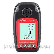 Детектор горючих газів + термометр (0-100%LEL, 0-50°C) WINTACT WT8823