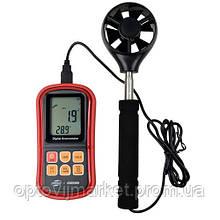 Анемометр (вимірювач потоку повітря) 0,3-45м/с, 0-45°C BENETECH GM8909
