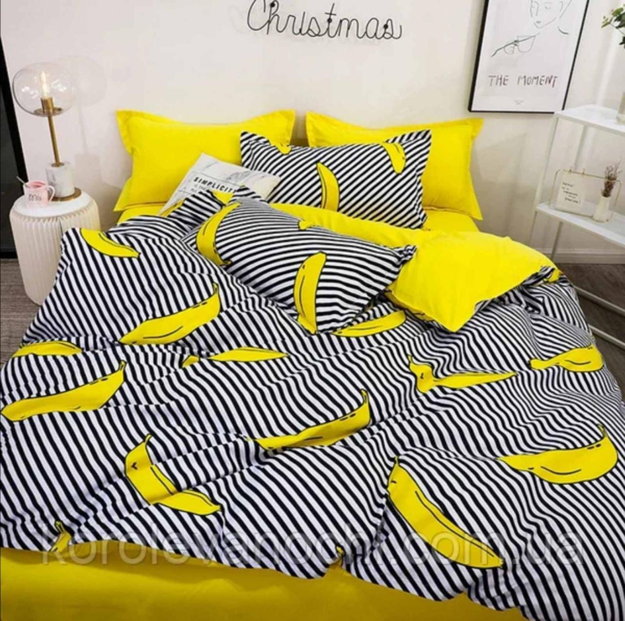 Двоспальний постільний комплект - Банани