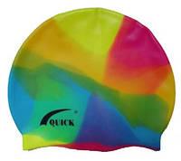 Шапочка для плавания, для взрослых, разноцветная