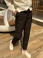 Штани жіночі стильні класичні з выточками з кишенями з високою посадкою Bff229