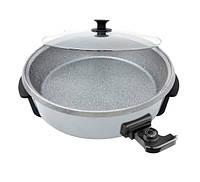 Электро-сковорода с антипригарным покрытием 40*9 см 7л. (Турция) OMS 3218-40-7л-Grey