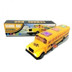 Игрушка автобус школьный, свет, звук, на батарейках