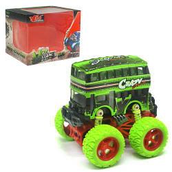 Двоповерховий автобус іграшка з великими колесами