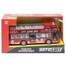 """Іграшковий двоповерховий автобус """"Автосвіт"""", червоний AS-2627, Іграшкові автобуси"""