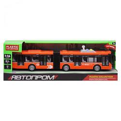 Детская игрушка автобус, 44 см, свет, звук, Автопром, Автобус с гармошкой