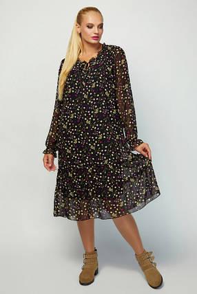 Ультрамодний плаття в стилі oversize Великий розмір від 52 до 60, фото 2
