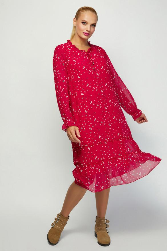 Ультрамодное платье в стиле oversize Большой размер от 52 до 60
