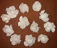 Розы из латекса белые (3,5 см, 12 шт) арт.14-133