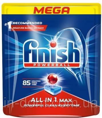 Finish Powerball All in 1 Max Таблетки для посудомийних машин 85 шт