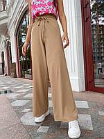 Штани палаццо жіночі трендові з мустанг трикотажу вільні комфортні Bff232