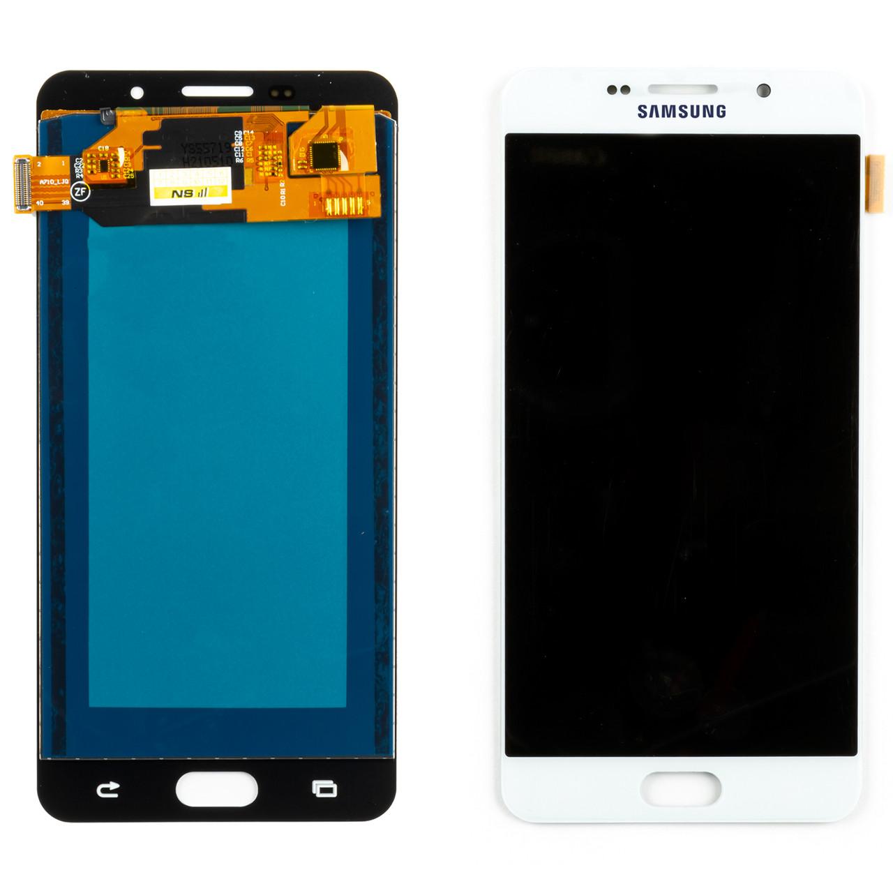 Дисплей SAMSUNG A710 Galaxy A7 (2016) з регульованою підсвічуванням з білим тачскріном