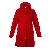 Куртка - пальто осень-зима подростковая, женская для девочек 9-18+ лет JANELLE красный ТМ HUPPA