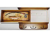 Деревянная ключница с выдвижной панелью алKC7008G