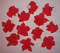 Розы из латекса красные (3,5 см, 12 шт) арт.14-133