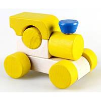 Деревянная игрушка Паровозик Малыш, желтый Ду-02 Руди