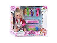 Кукла 1303 B набор доктора в чемодане