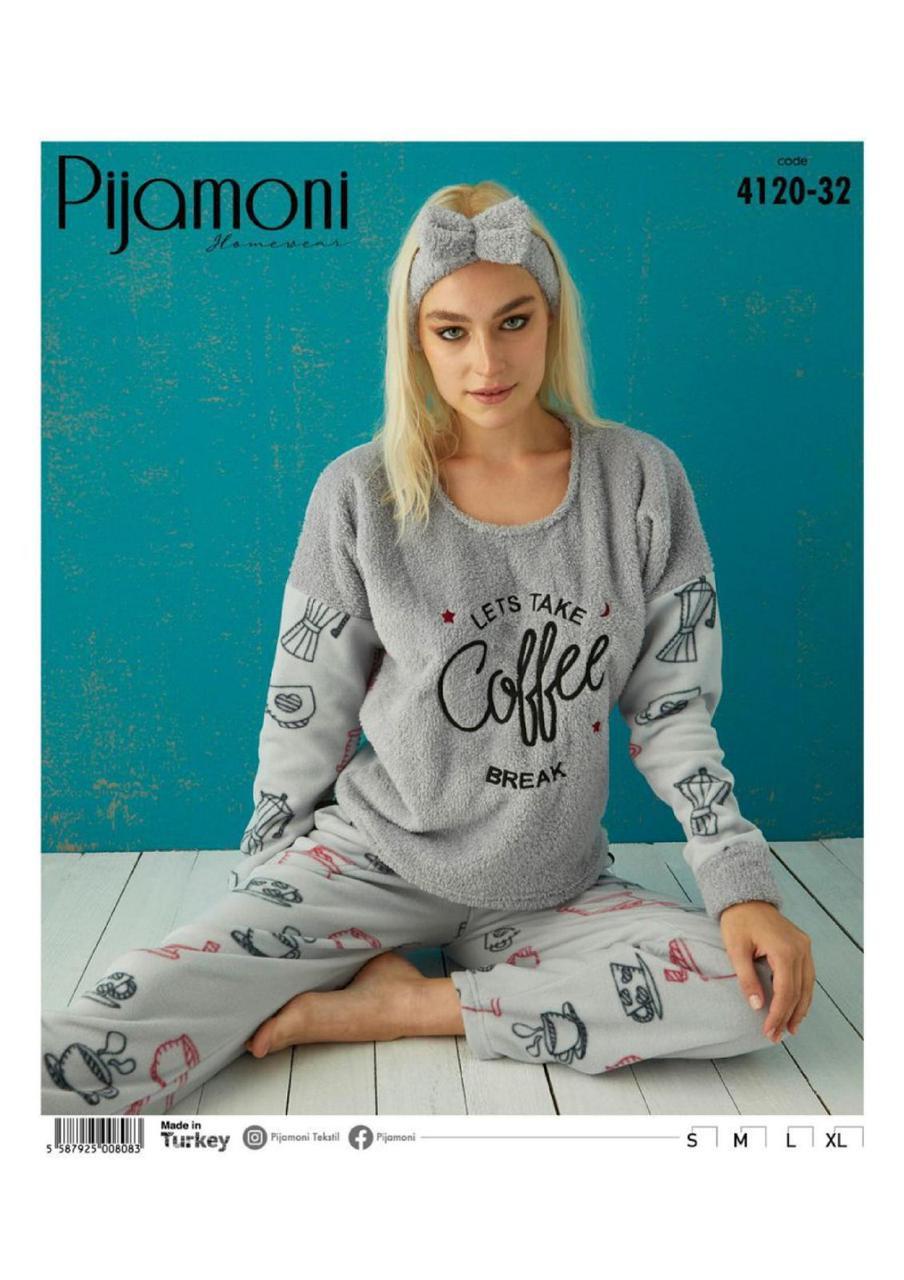 Жіноча флісова піжама Pijamoni Coffe Break